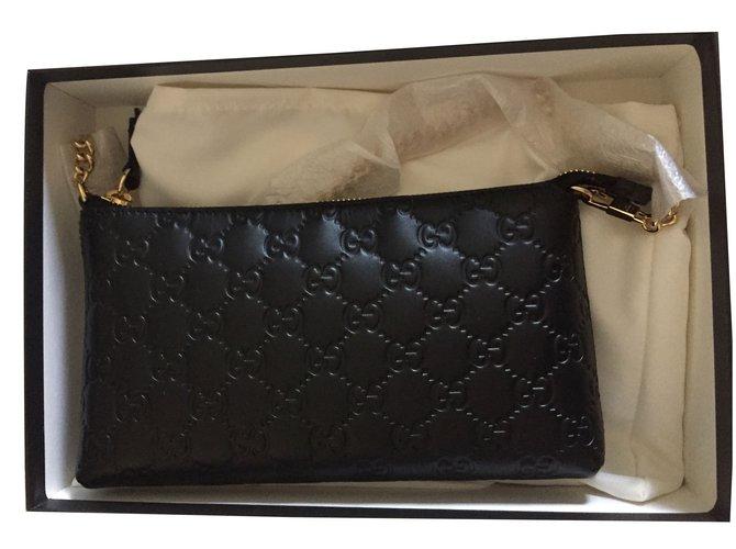 b24654d2a7a0 Gucci Wallet on chain Wallets Leather Black ref.41841 - Joli Closet