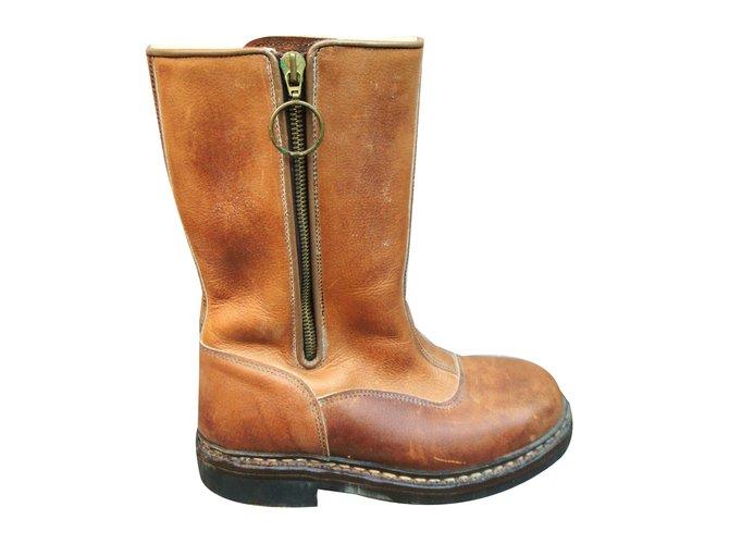 fourrure Ref Cuir Boots Paraboot Marron Bottes Clair 7qt0nwT