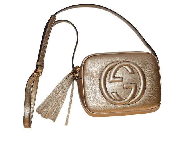 a8d8751d8b9b Gucci Gucci soho discobag new with giftreceipt gold Handbags Leather Golden  ref.42081