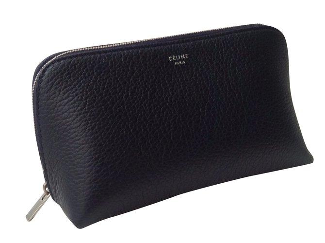 Céline Purses, wallets, cases Purses, wallets, cases Leather Navy blue ref.42162