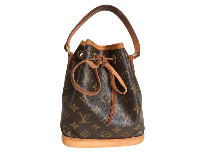 4c453264b Louis Vuitton Louis Vuitton Mini Sac Noe Monogram Canvas Handbags Leather, Cloth Brown,Golden