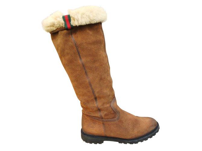 adf43aacd Gucci Boots Boots Deerskin Brown ref.42214 - Joli Closet