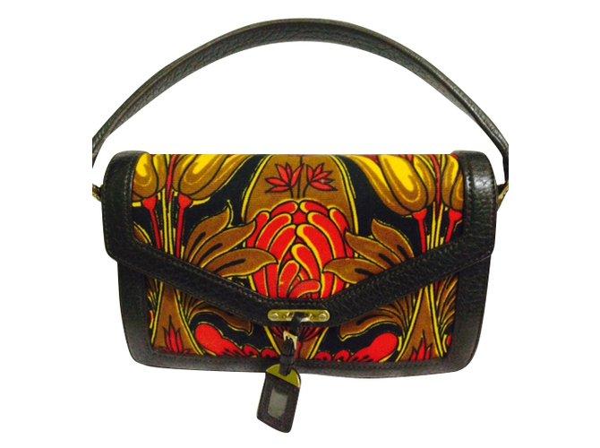 ... tote bag Handbags nylon Black ref.76590 - Joli  half off 72572 d6a4f  Prada BN0956 CANAPA TULIPANO ROSSO+EBANO Handbags Cloth Multiple colors ref  ... 438ea565dc