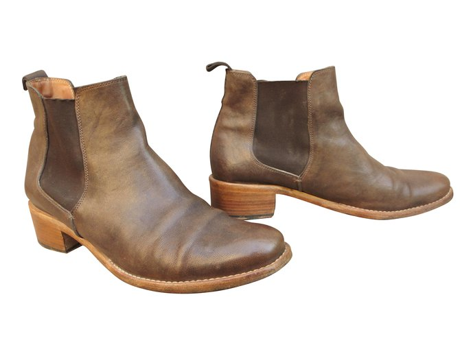 Heschung Leather Ankle Boots IZeIAy4wU