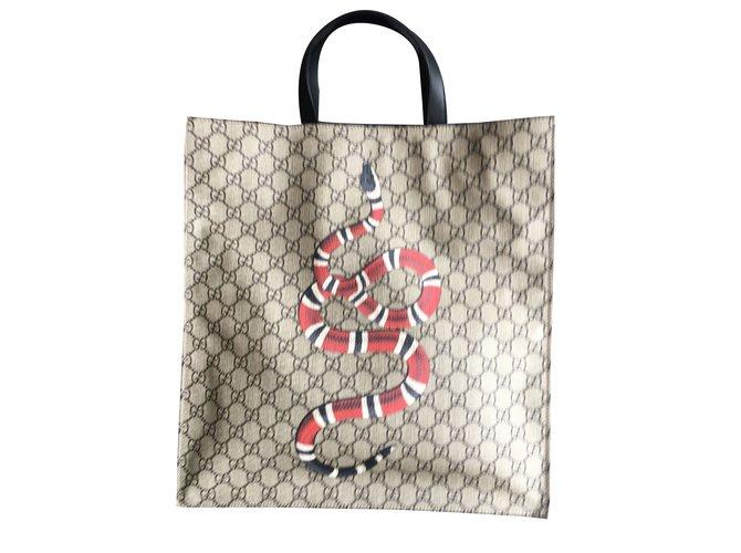 9590d617b06 Gucci Gucci snake tote Handbags Other Brown ref.42718 - Joli Closet