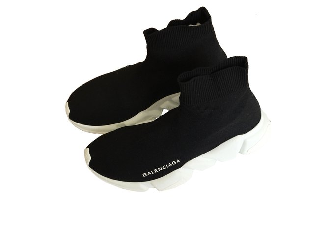 balenciaga trainer speed noir