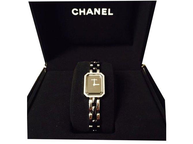 Chanel Première mini Fine watches Steel,Ceramic Black ref.42740