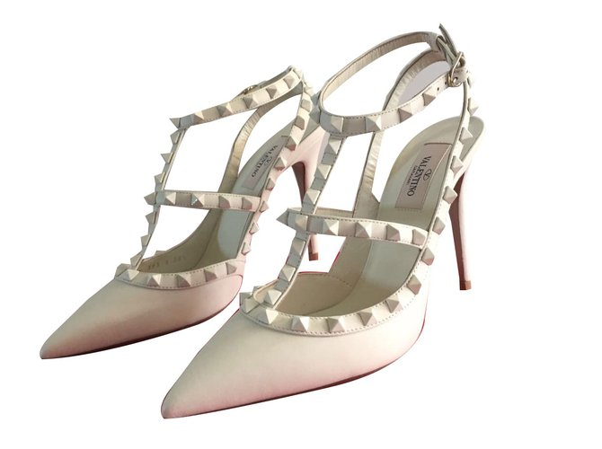 les plus récents Acheter Authentic bon marché Escarpins Valentino Escarpins Cuir Blanc ref.42763 - Joli Closet
