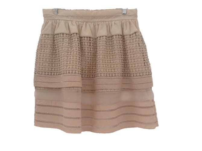 Chloé Skirts Skirts Cotton Beige ref.42824
