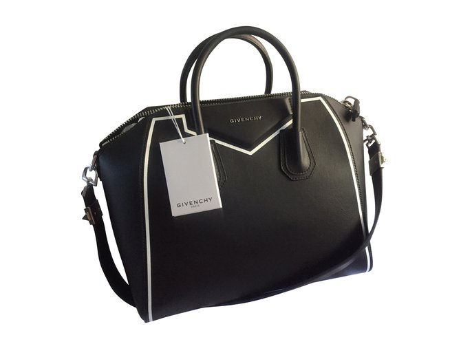 Givenchy Givenchy antigona medium Handbags Leather Black ref.42827 ... a15ae55550eae