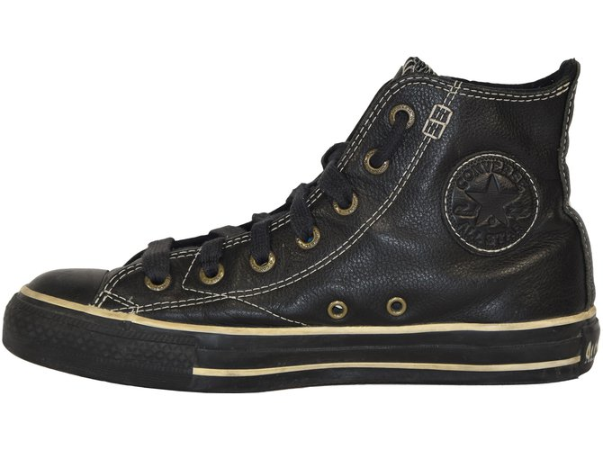 converse all star noir cuir