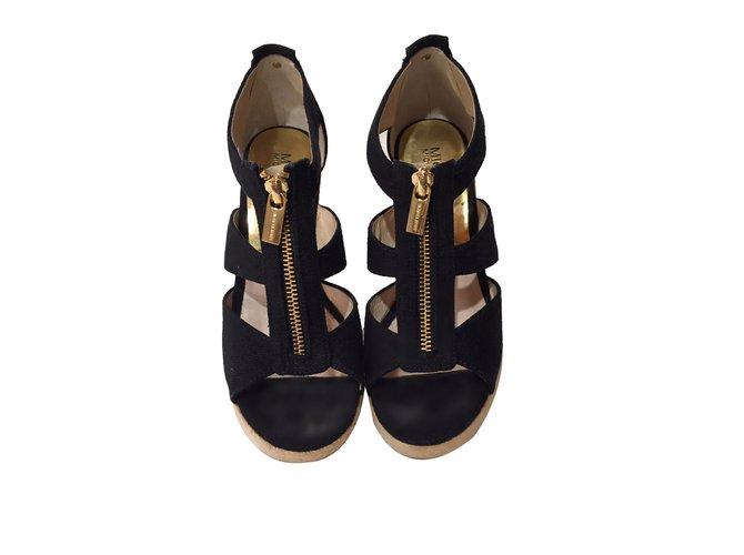 a9e3754f90bc Michael Kors Sandals Sandals Cloth Black ref.42964 - Joli Closet