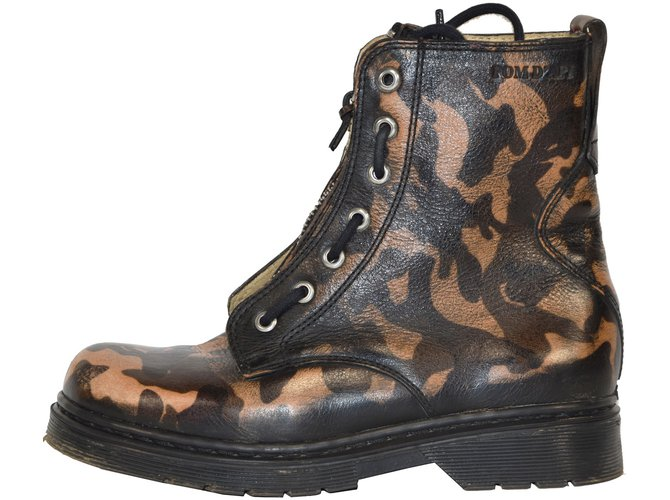 Pom d'Api Boots Boots Leather Brown ref.43009
