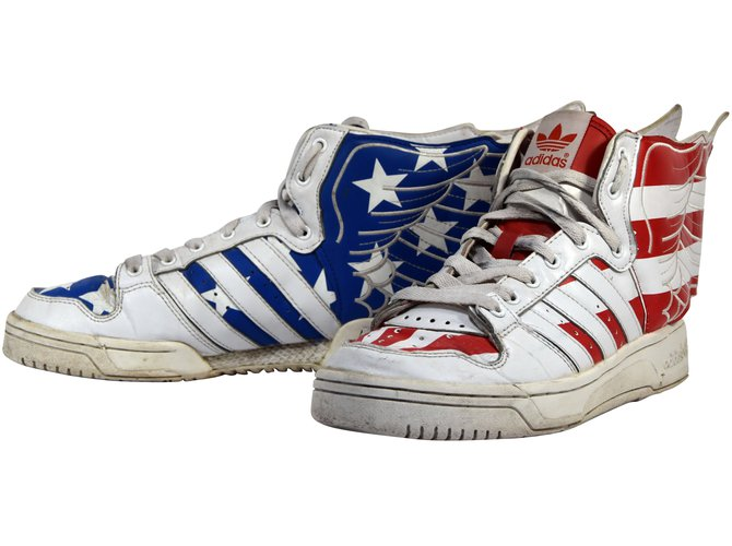 Baskets jeremy scott wings us flag adidas originals t.42 uk 8