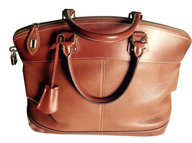 Louis Vuitton L. Vuitton suhali lockit GM Handbags Leather Brown ref.43175 945233dece3b8