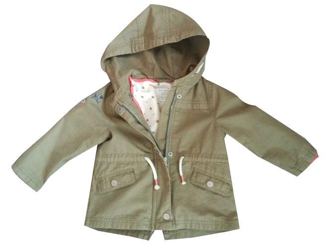 Zara Girl Coats outerwear Girl Coats outerwear Polyester Khaki ref.43232