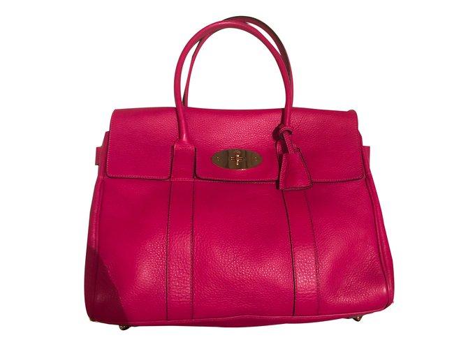 Mulberry Handbags Handbags Leather Pink ref.43264 - Joli Closet cedd582c9b6e4