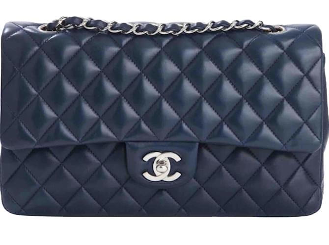 Sacs à main Chanel Timeless Cuir Bleu ref.43284