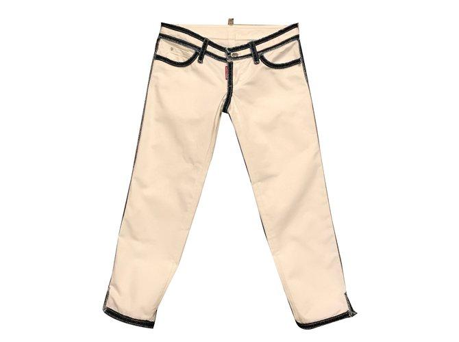 Jeans Dsquared2 Jeans Coton Blanc,Bleu ref.43365
