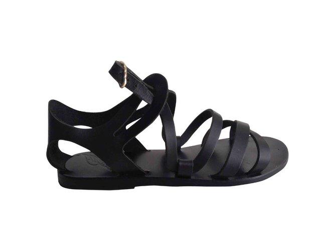 Sandales Ancient Greek Sandals Ellie Cuir Noir ref.43436