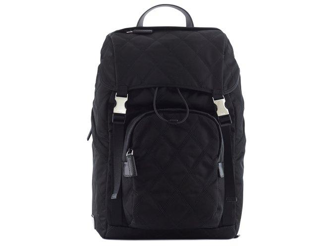 068842401a72 Prada Prada quilted backpack Bags Briefcases Nylon Black ref.43490 ...