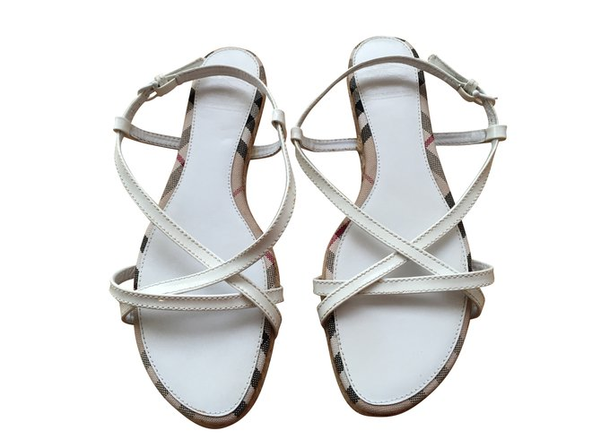 Burberry Sandals Sandals Other White ref.43502