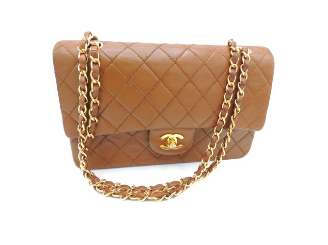 eabe2df9a2cd Chanel Timeless classic Handbags Leather Caramel ref.43528 - Joli Closet