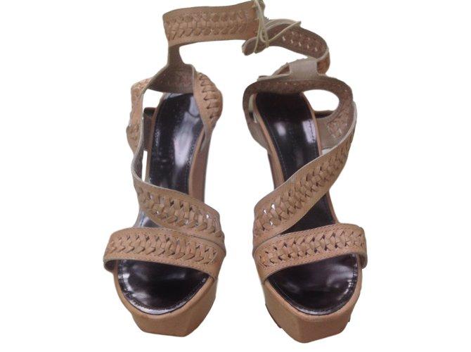 6a1e10b90ce Proenza Schouler Heels Heels Leather Caramel ref.43550 - Joli Closet