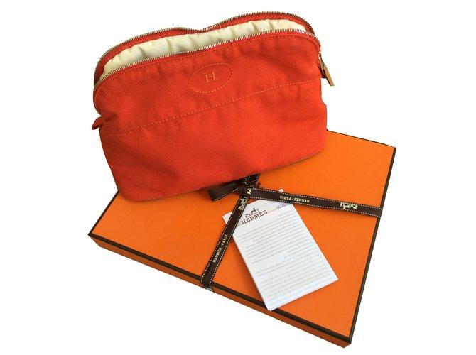 Hermès Purses, wallets, cases Purses, wallets, cases Cotton Orange ref.43636