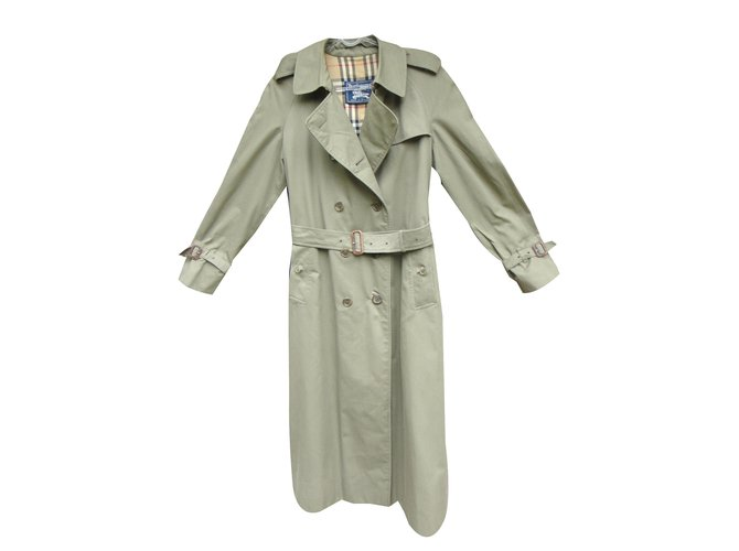 Burberry Trench coats Trench coats Cotton,Polyester Khaki ref.43637