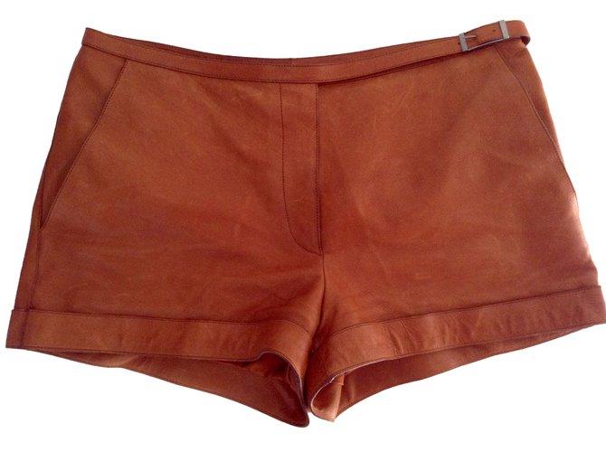 Shorts Hermès Shorts Cuir Marron ref.4368