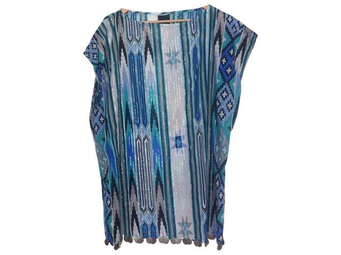 Robe coton bleu