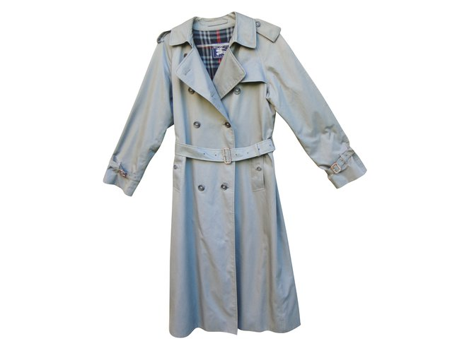 Burberry Trench coats Trench coats Cotton,Polyester Grey ref.43867