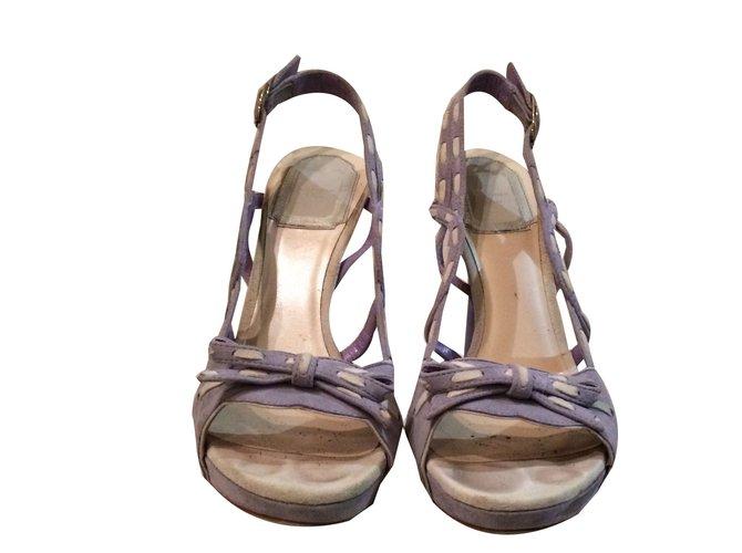 Christian Dior Sandals Heels Deerskin