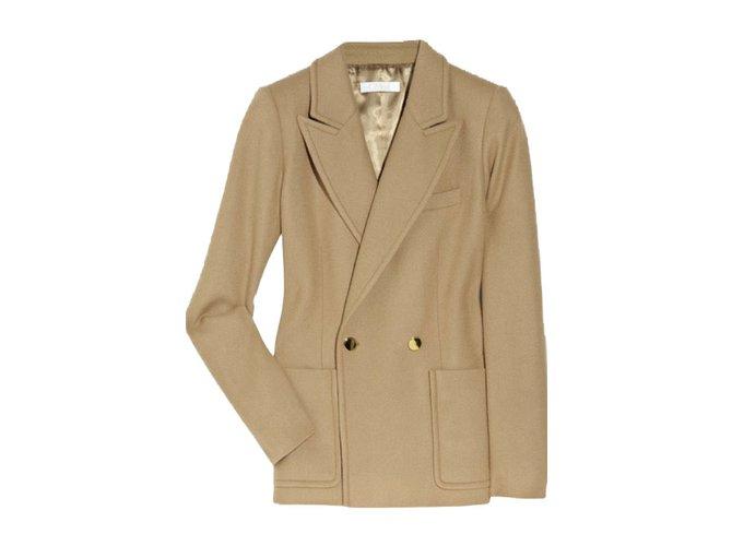 Chloé Jackets Jackets Wool Brown ref.44343