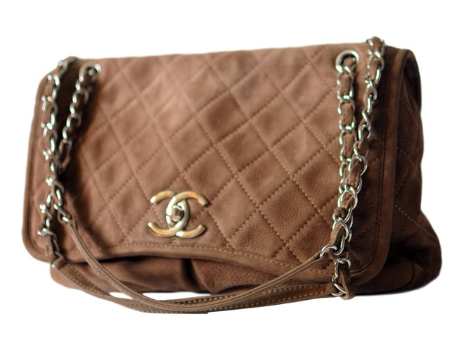 e0e8d83de0af9a Chanel Natural Beauty bag Handbags Suede Brown ref.44396 - Joli Closet