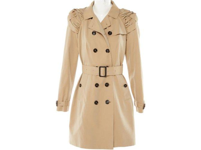 f6c6e3444a79 Burberry Prorsum Trench coats Trench coats Cotton Beige ref.44572 ...