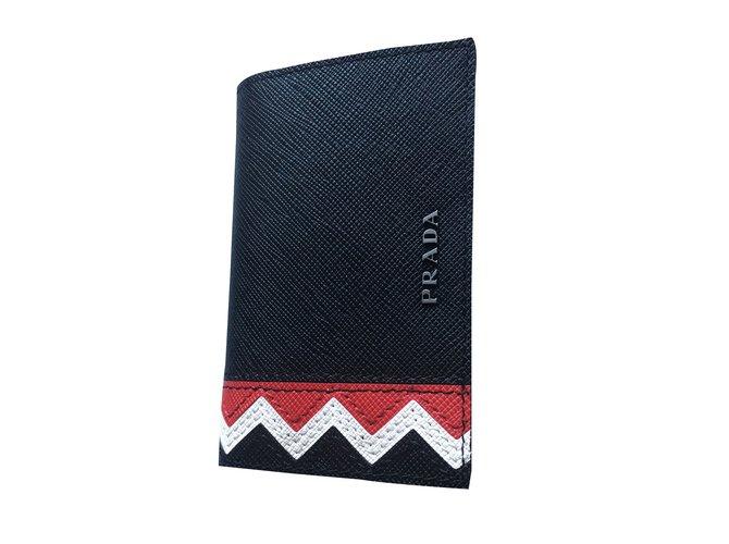 c3f7c7218c82 Prada Purse, wallet, case Wallets Small accessories Leather Black ref.44735