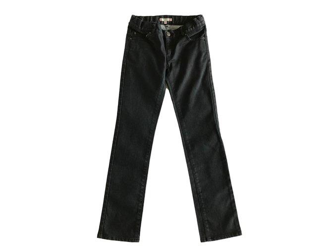 Pantalons fille Bonpoint Pantalon Coton Noir ref.44865