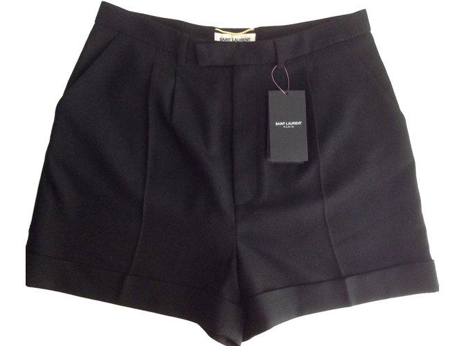 Shorts Saint Laurent Shorts Laine Noir ref.44912