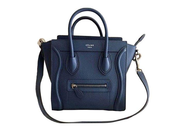 2094a882f3d9 Céline Handbag Handbags Leather Navy blue ref.44933 - Joli Closet