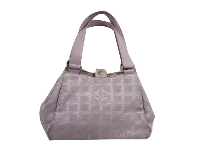 Sacs à main Chanel Chanel Sport Toile Rose ref.45168