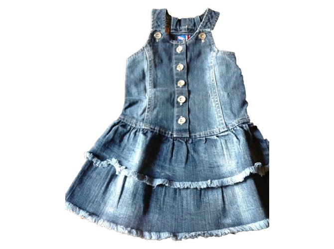 Robes fille Autre Marque Rock&Roll Robe fille Jean Bleu ref.45190