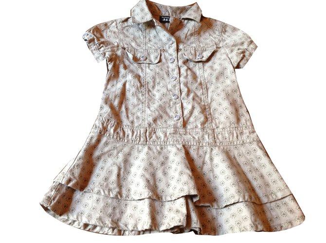Robes fille Autre Marque Toutcomptefait Robe fille Coton Beige ref.45192