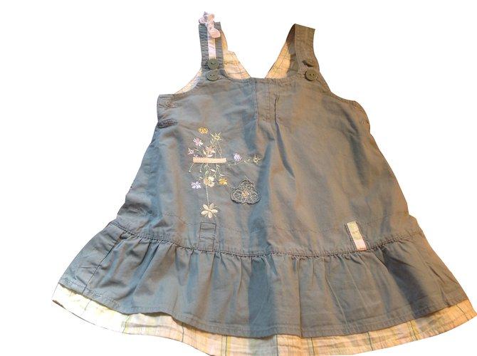 Robes fille Autre Marque Tout Simplement France Robe fille Coton Vert ref.45199