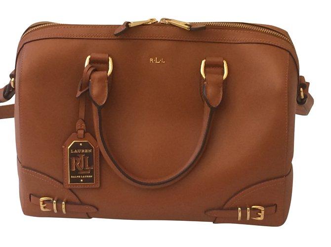 Ralph Lauren Handbags Handbags Leather Caramel ref.48418 - Joli Closet 1a024c2a02beb