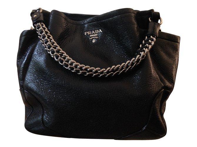 40d1eb01a96d Prada Handbags Handbags Patent leather Black ref.45279 - Joli Closet