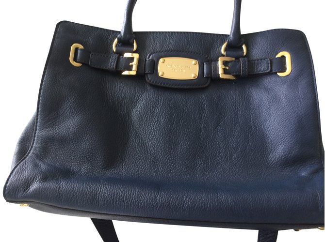 Michael Kors Handbags Leather Navy Blue Ref 45299