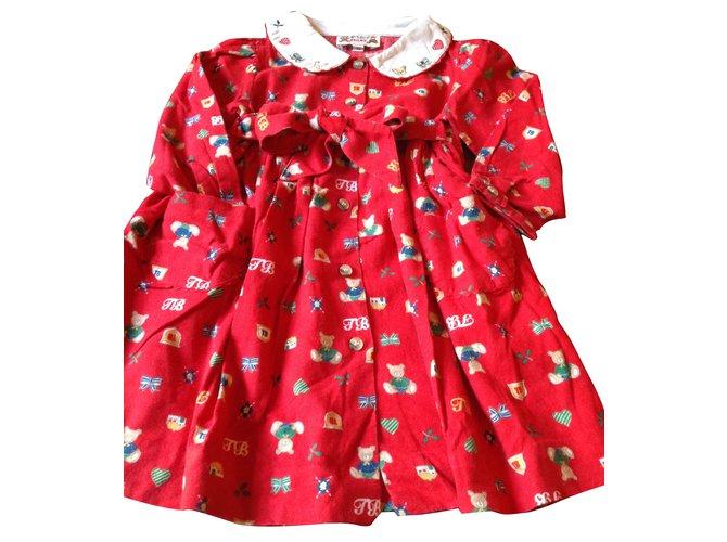 Robes fille Autre Marque Robes Coton Rouge ref.45330