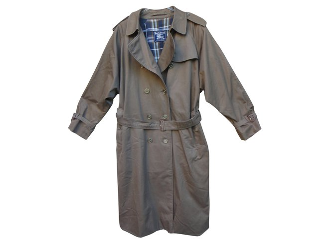 Burberry Trench coats Trench coats Cotton,Polyester Brown ref.45355